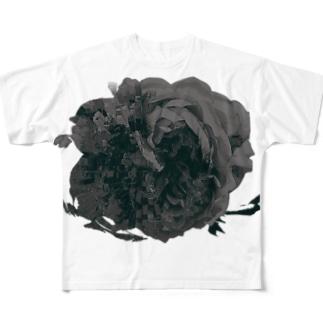 バラモチーフBK フルグラフィックTシャツ
