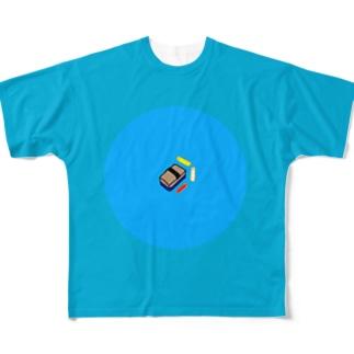黒板消しとチョーク Full graphic T-shirts