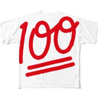 100点満点 Full graphic T-shirts