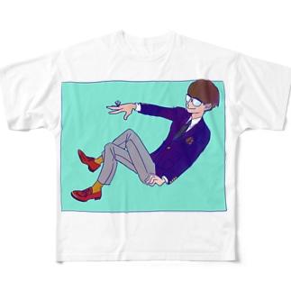 僕と一緒にいてチョ フルグラフィックTシャツ