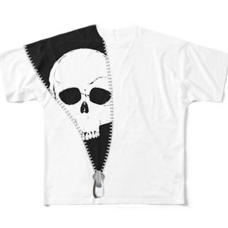 ジッパードクロ Full graphic T-shirts