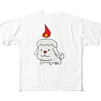 ろうそくけん Full graphic T-shirts