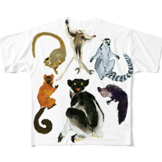 LEMURS フルグラフィックTシャツ