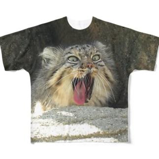 マヌルネコ・ストーンズ Full graphic T-shirts