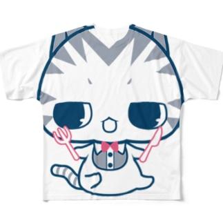 おなかぺこぺこにゃ フルグラフィックTシャツ