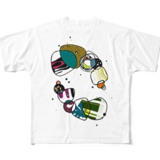 ワチャワチャ Full graphic T-shirts