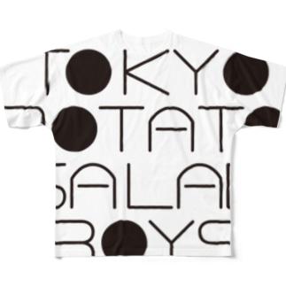 東京ポテトサラダボーイズ公式ネオクラシックロゴ フルグラフィックTシャツ