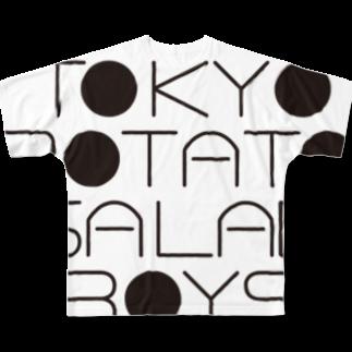 東京ポテトサラダボーイズ公式ショップの東京ポテトサラダボーイズ公式ネオクラシックロゴ Full graphic T-shirts