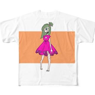 単眼Girl Full graphic T-shirts