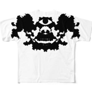 ロールシャッハテスト Full graphic T-shirts