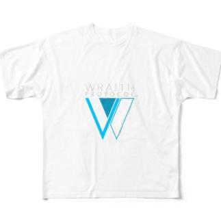 WRAITH PROTOCOL(レイス・プロトコル)ロゴ フルグラフィックTシャツ