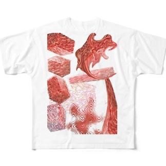 おにくの塊 Full graphic T-shirts