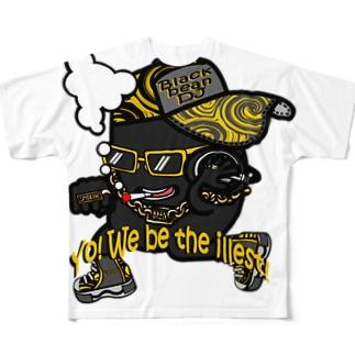 黒豆DJ Full graphic T-shirts