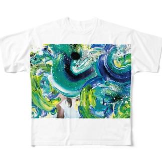 ぐるぐる Full graphic T-shirts