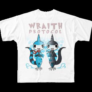 仮想通貨Verge Japan(バージ ジャパン) 公認SHOPのバージリスク(レイス・プロトコル) フルグラフィックTシャツ