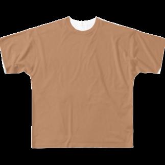nuwtonのARuFaの乳首色フルグラフィックTシャツ