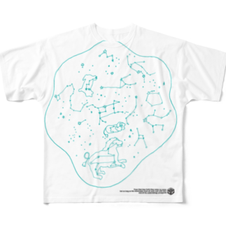 HAKO NO KIMAGUREのSEIZA DAMARI Full graphic T-shirts