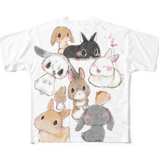皆のうさちゃん3 Full graphic T-shirts