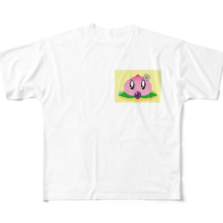 桃ちゃん Full graphic T-shirts