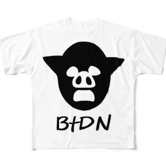 BtDN白背景ver フルグラフィックTシャツ