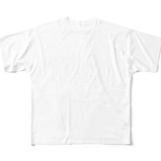 黒い服用💢 フルグラフィックTシャツ