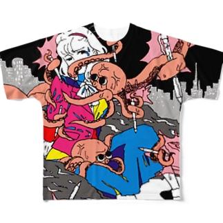 蛸とOL フルグラフィックTシャツ