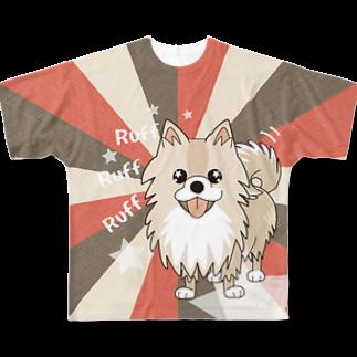 ぽめる堂 Monyaa.tagのぽめるのキラキラ フルグラフィックTシャツ Full graphic T-shirts