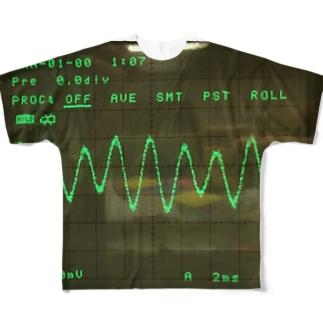 oscilloscope Full graphic T-shirts