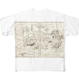 夢応の鯉魚(裏写り低減版)L Full graphic T-shirts