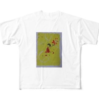 dancin' girl フルグラフィックTシャツ