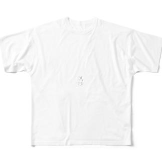 おすわりうさぎ フルグラフィックTシャツ