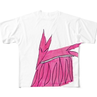 九尾狐 フルグラフィックTシャツ