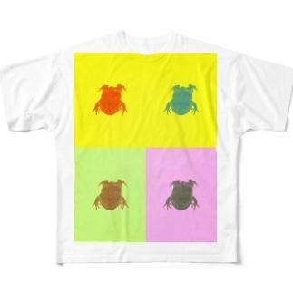 カラフルにリアルなざぶとん Full graphic T-shirts