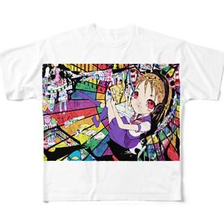 虹色エクスタシー Full graphic T-shirts