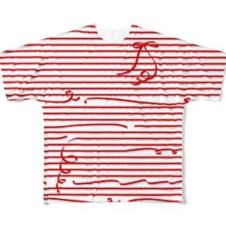 Red Stripes フルグラフィックTシャツ
