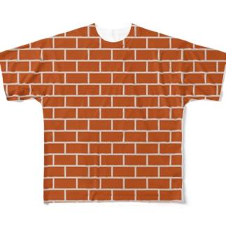 レンガ フルグラフィックTシャツ