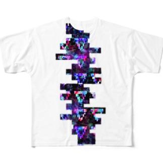 よこギザ Full graphic T-shirts