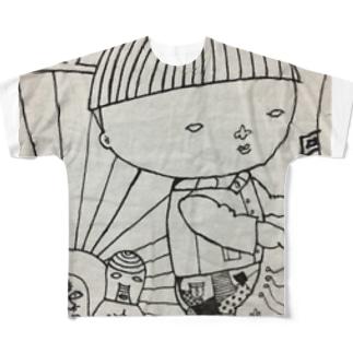 覆面レスラーとボク フルグラフィックTシャツ