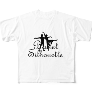 Ballet silhouette Full graphic T-shirts