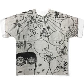 メカ人間と フルグラフィックTシャツ