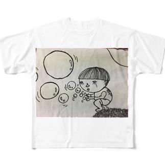 シャボン玉小僧 フルグラフィックTシャツ