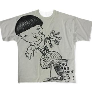 手が交差 フルグラフィックTシャツ