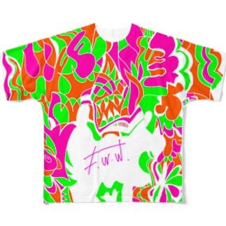 """Marble chocolate mango&melon&peach"" by F.W.W. Full graphic T-shirts"