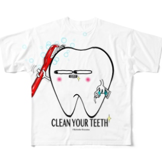 Toothくん 歯磨き Full graphic T-shirts