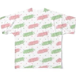 QuQuロゴver フルグラフィックTシャツ