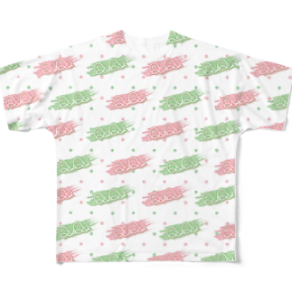 トタのQuQuロゴverフルグラフィックTシャツ