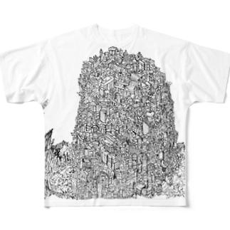 廃墟の塔 Full graphic T-shirts
