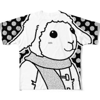 ひつじ フルグラフィックTシャツ