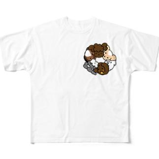 グルグルわんこ フルグラフィックTシャツ