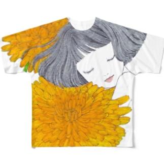 たんぽぽ フルグラフィックTシャツ